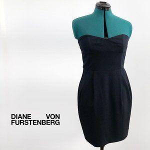 DIANE VON FURSTENBERG Strapless Mini Dress Size 10